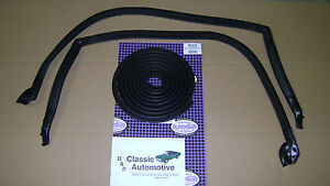Weatherstrip-Kit-3pc-Roofrail-Trunk-73-77-Chevelle-Malibu-Cutlass-LeMans