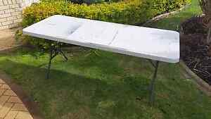 Foldup Plastic Trestle Table 1800 x 600 mm  In working order  Has Huntingdale Gosnells Area Preview