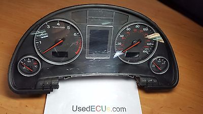 Audi A4, B6, 2001/04, INSTRUMENT CLUSTER, SPEEDO, SPEEDOMETER CLOCK, MPH, RHD