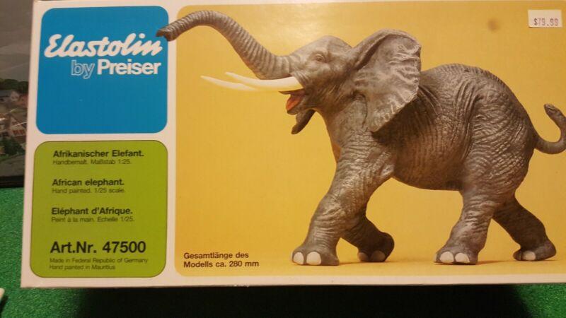 G Scale African elephant figurine