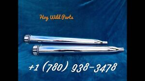 Black  &Chrome Mufflers Touring.   For Your Harley Davidson