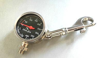 Finimeter Tech 300 bar Modul Mini Metall mit Karabiner, schwarz 52 mm