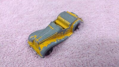 Vintage Diecast Metal Toy - TootsieToy - MG Sports Car - Yellow - Collectible