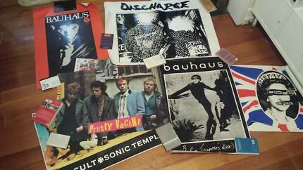 Bauhaus Sex Pistols Discharge The Cult Posters Rock Goth Punk