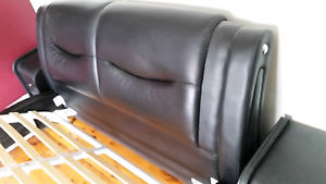 Leather bed with bedside Macquarie Links Campbelltown Area Preview