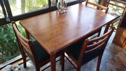 Small Dining Table and Four Chairs Kurrajong Hawkesbury Area Preview