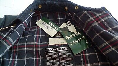 BARBOUR -A155 BEAUFORT WAX COTTON JACKET- NAVY- NEW OLD STOCK W/TAGS- MADE@UK-32