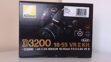 Nikon D3200 Brand New DSLR Camera with 18-55mm Lens Kit - Black Meadow Heights Hume Area Preview