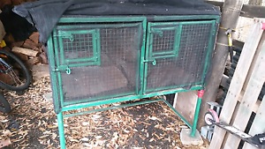 Metal rabbit cage 4 sections mesh rabbit hutch Cranebrook Penrith Area Preview
