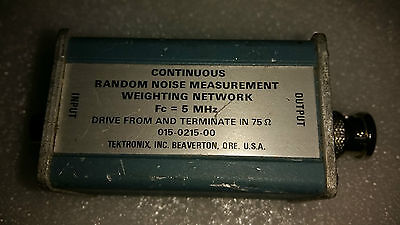 Tektronix 015-0215-00 Random Noise Measurement Weighting Network Module