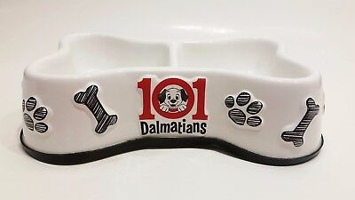 Authentic Disney 101 Dalmatians Porcelain Double Dog Feeding Bowl Plate Rare HTF
