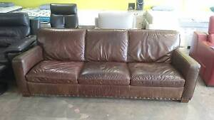 HERMITAGE 3 SEATER LEATHER SOFA Richmond Yarra Area Preview