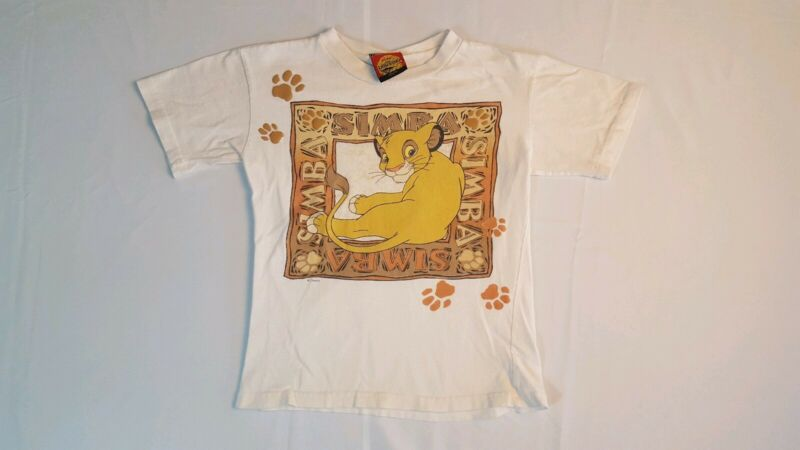 Vintage 90s Lion King Simba T-Shirt Size Kids 7-8