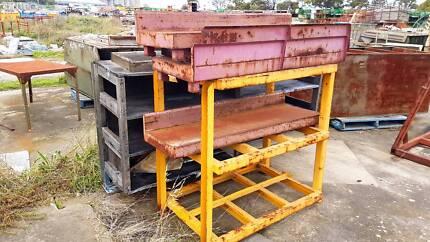 Stainless steel shelves rack heavy duty vintage / industrial