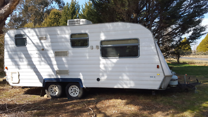 Windsor Statesman dual axle  caravan with AC, Shower, Toilet HWS Orange Orange Area Preview