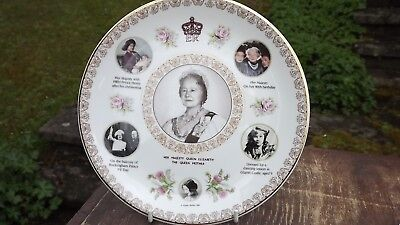 1994 Queen Mother 70 Years of Service Plate Super Portraits Coronet Pottery