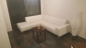Beautiful Genuine leather, off white corner lounge RRP $3900 Craigie Joondalup Area Preview
