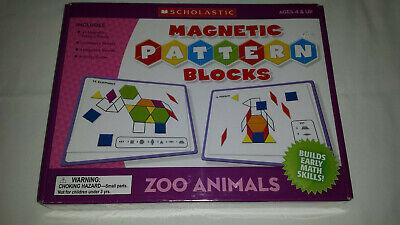 Scholastic MAGNETIC PATTERN BLOCKS - ZOO ANIMALS - teacher's friend TF7506 (NEW)