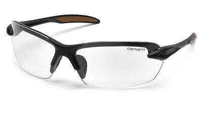 Carhartt Spokane Safety Glasses Black Frames and Clear Lens CHB310D