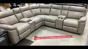 New7Pce Pewter Sofa Couch Sectional 2glider recliners/4USB