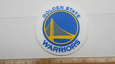 Golden State Warriors 3D Basketball Logo - Emblem, Ornament or Magnet !!