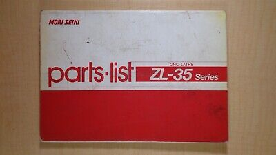 Mori Seiki Parts-list Cnc Lathe Zl-135 Series Manual 7d B4
