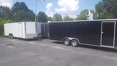 New 2018 8.5x24 V-nose Enclosed Cargo Trailer Car Toy Hauler 8.5x24 5200lb Axles