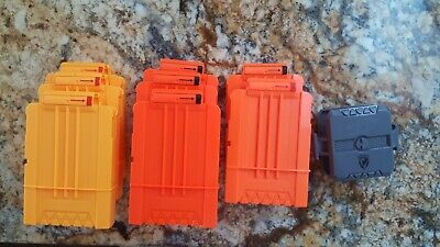 Lot of 8 Nerf Dart Gun Ammo Clips Magazines - clip holds 6 darts - Double holder