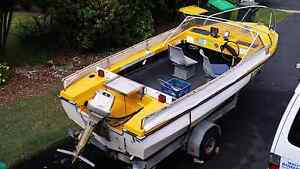 Up for Sale is my 15ft Fibreglass Runabout  Boat. Campbelltown Campbelltown Area Preview