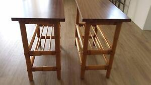 2 Beautiful Cane Side Tables from the 70's Barden Ridge Sutherland Area Preview