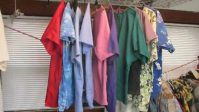 Cherokee Basic Scrubs - 10 Size Medium Multi Colored Scrubs Tops,Cherokee,Fashion,Basic,Merial,Natural