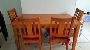 Dining table with four chairs Harrison Gungahlin Area Preview