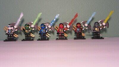 NEW Lego Ninjago lot 6 Minifigures and Weapons ninja set over 100 pcs USA SELLER