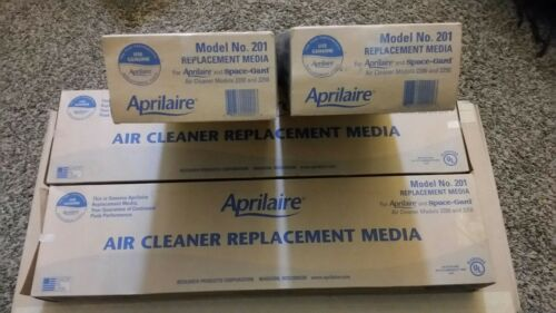 Lot of 4 Genuine Aprilaire 201 Replacement Media Air Filter