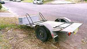 Motorcycle Trailer / Flat Top Trailer 8 Ft x4.5 Ft 2470mm x1300mm Botany Botany Bay Area Preview