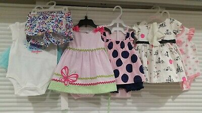 NWT Baby Girl Dresses Bodysuit Shorts Skirt 6-9 9 M Months Summer Clothes Lot