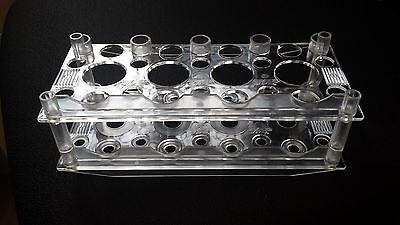 Reagenzglasständer Rack Ständer Gestell PS klar für Röhrchen Zentrifugenröhrchen