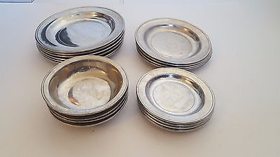 Wilton Columbia PA Pennsylvania Pewter Bowls Plates Bowl Plate Collection Set