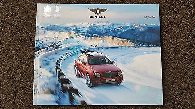 Bentley Bentayga W12 MY16/17 HARDBACK Large Format Sales Brochure 126pg