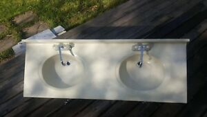 Double Sink including 2 Chrome Faucets *need gone asap