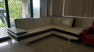 Nick scali genuine leather sofa Coopers Plains Brisbane South West Preview