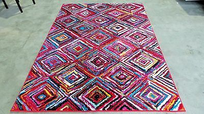 - RUGS AREA RUGS CARPET 8x10 AREA RUG LARGE MODERN COLORFUL FLOOR COOL RED RUGS ~~
