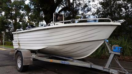 polycraft c/c with 4 stroke and HD factory trailer Newport Pittwater Area Preview