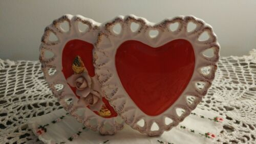Sampson Import Co Valentine Planter, Double Heart With Flowers