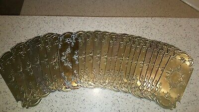 24 Vintage Solid Brass Door Push Plate - $35ea.