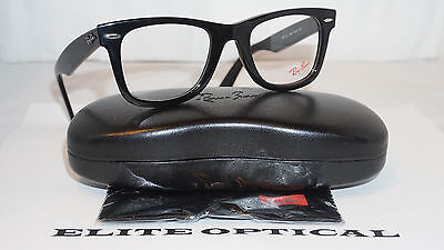 RAY BAN RX Eyeglasses New Original Wayfarer Optics Black RX5121 2000 50 150