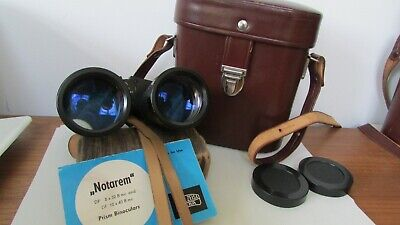 Carl Zeiss Jena DDR Notarem 10 x 40mc Multi-coated Binoculars Case 1981 Guide