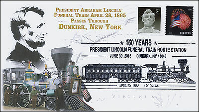 2015, PRESIDENT LINCOLN FUNERAL TRAIN ROUTE, PICTORIAL, DUNKIRK NY, 15-355