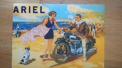 1931 Ariel Square Four No 31 Vintage Ad Gallery Postcard MA031PC Unused