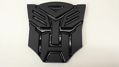 Black 3D Autobot 4 Inch Transformers Emblem Badge Decal Car Stickers Truck